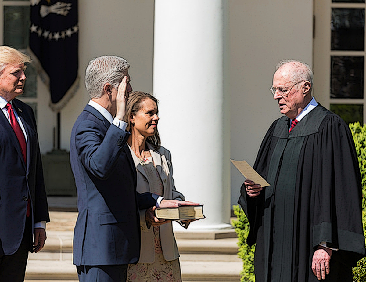 Supreme Court Justice being sworn in
