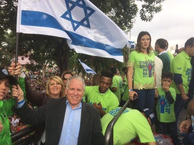 Evangélicos mostram apoio a Israel durante a Marcha