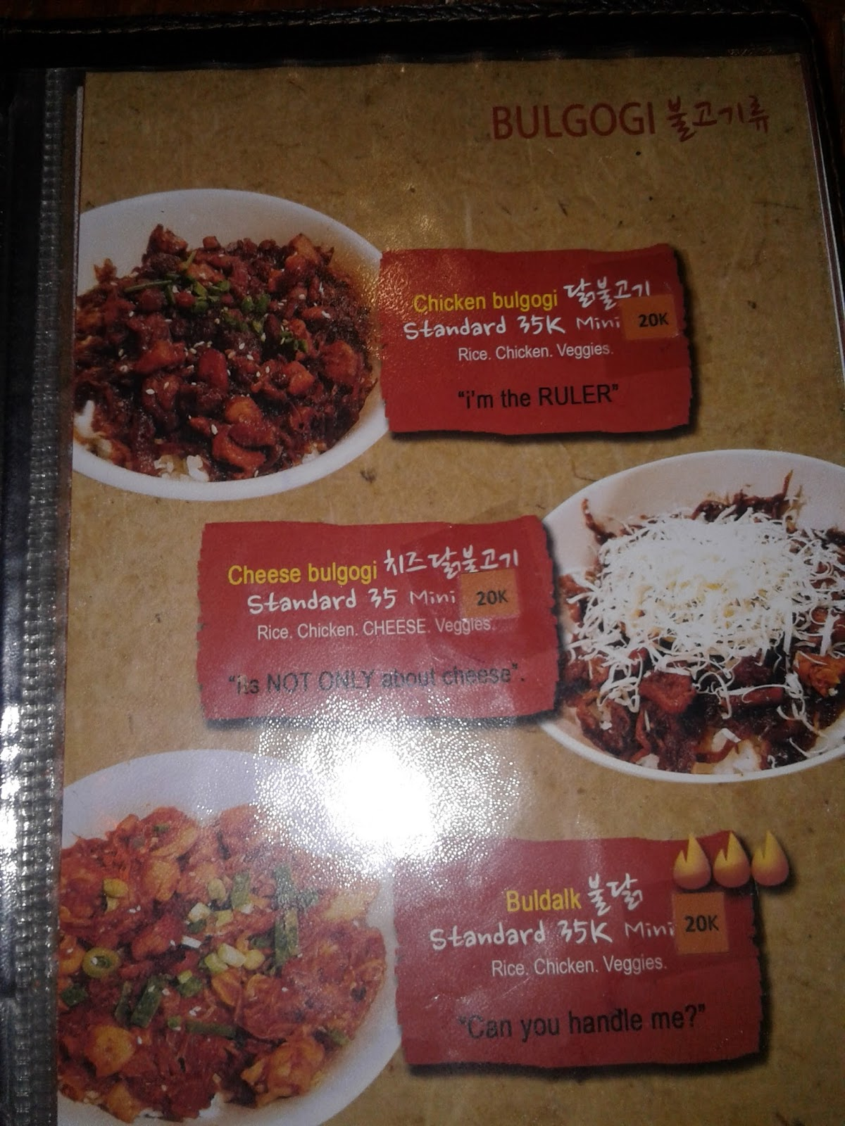 Masakan Korea - Menu Myeongdong Surabaya