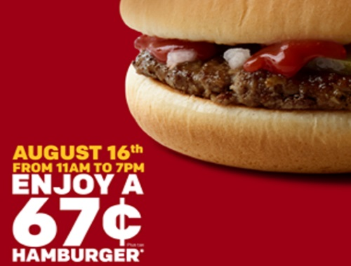 Mcdonalds $0.67 Hamburgers