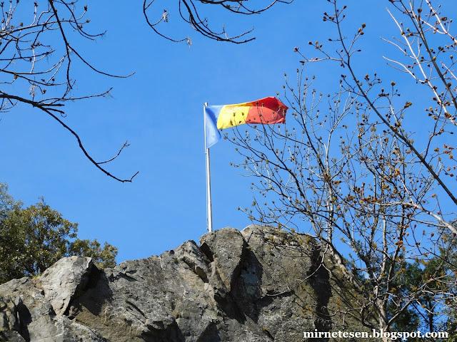 Андорра-ла-Велья - флаг Андорры в центре города