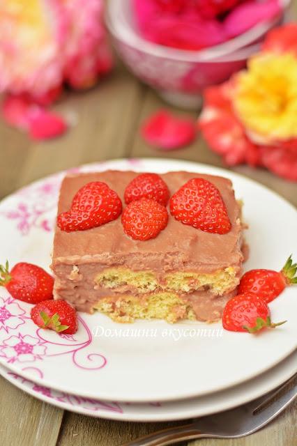 Бърза торта с курабии