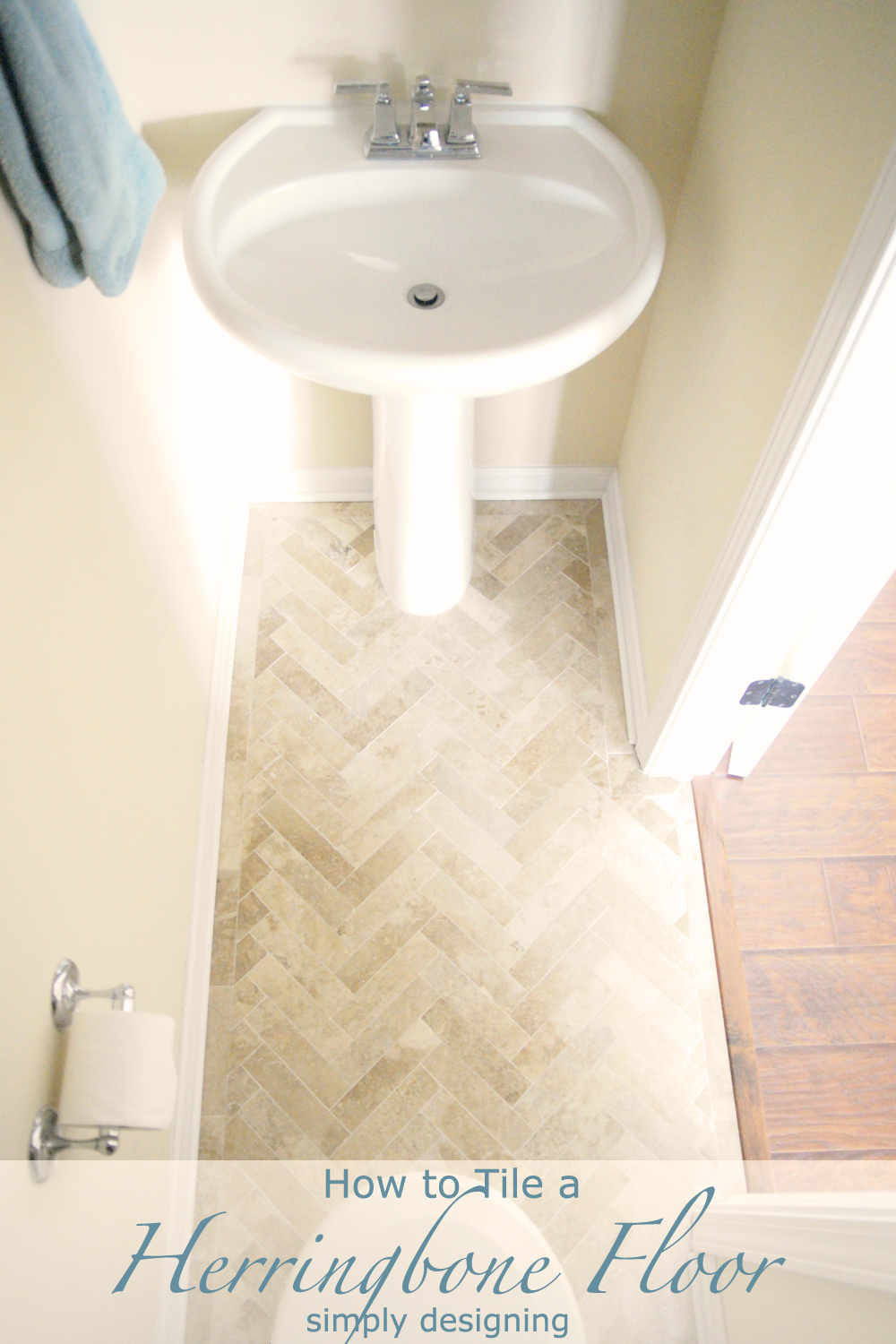 Always wanted a herringbone tile floor but thought it might be too difficult to do yourself or too expensive to get someone else to do it? Step by Step instructions with photos for prep, laying and installing them!