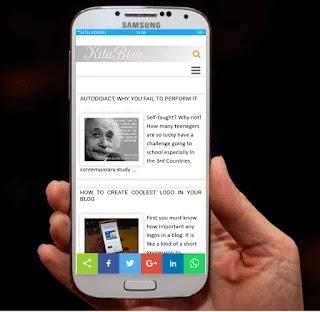 Simple dan cepat dan sangat mobile friendly