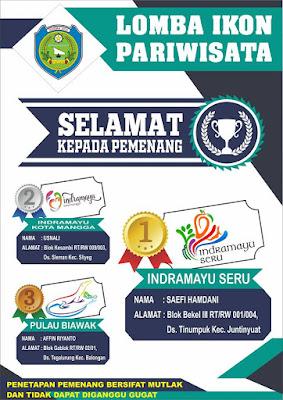 3 Pemenang Lomba Ikon Branding Pariwisata Indramayu