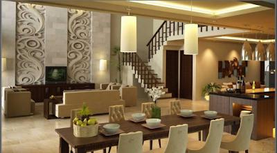 Desain Interior Ruang Makan  Mewah Minimalis