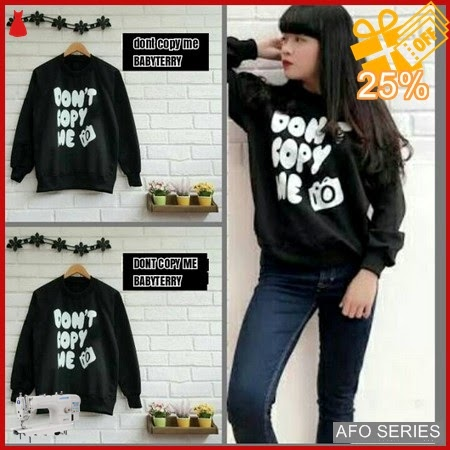 AFO498 Model Fashion Sweater Dont Copy Me LD Murah BMGShop
