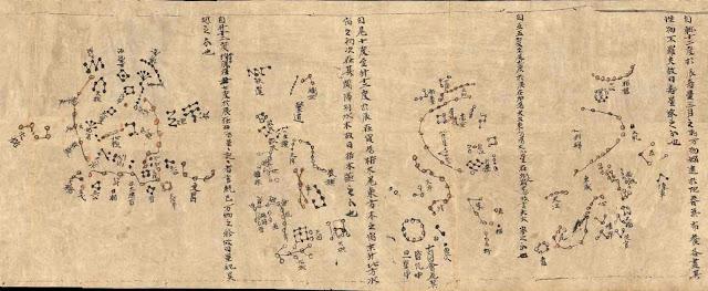 แผนที่ดาวของจีน สมัยราชวงค์ถัง