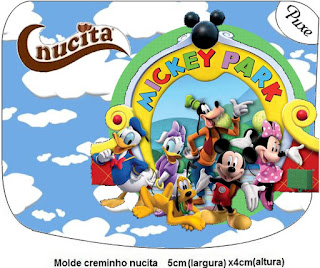 Mickey Clubhouse, Free Printable Nucita Labels.