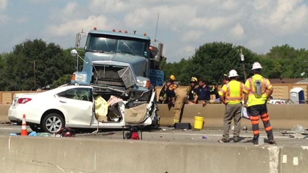Vehicle Accident News Stories & Articles: Dump truck jumps median