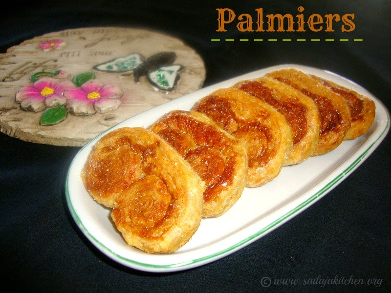 Palmiers Recipe / Sweet Palmiers Recipe / Elephant Ears Cookies Recipe / Palmiers French Puff Pastry Cookies