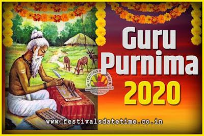 2020 Guru Purnima Pooja Date and Time, 2020 Guru Purnima Calendar