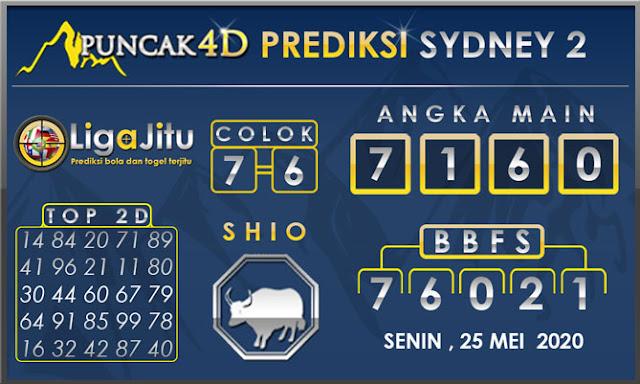 PREDIKSI TOGEL SYDNEY2 PUNCAK4D 25 MEI 2020