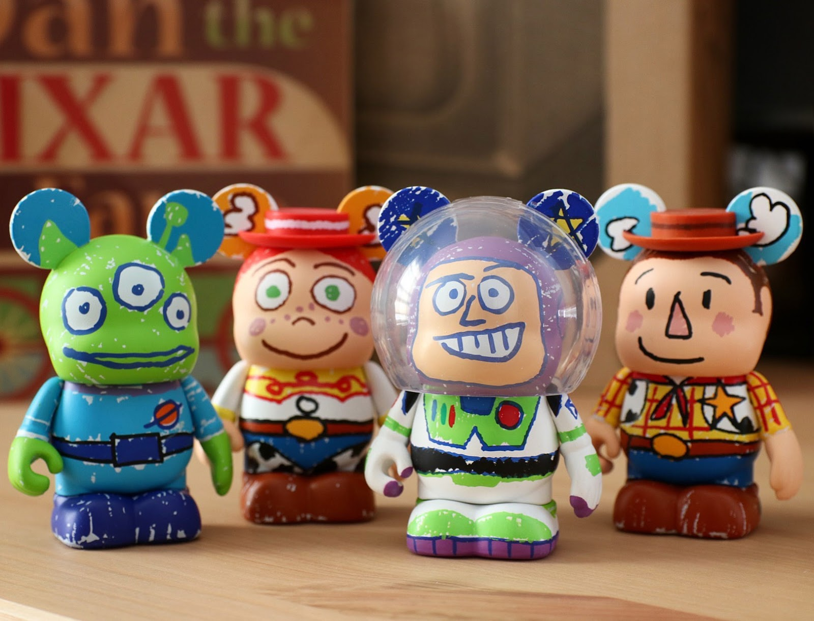 pixar toy story andy crayon drawings vinylmation