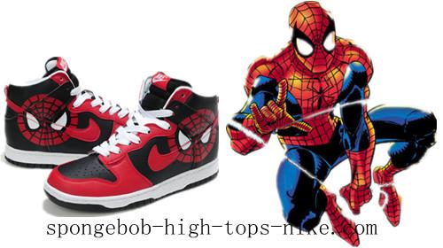 promo code 218ce 7d34e The Amazing Spider-Man Nikes Spiderman SB Dunks Cartoon Shoes