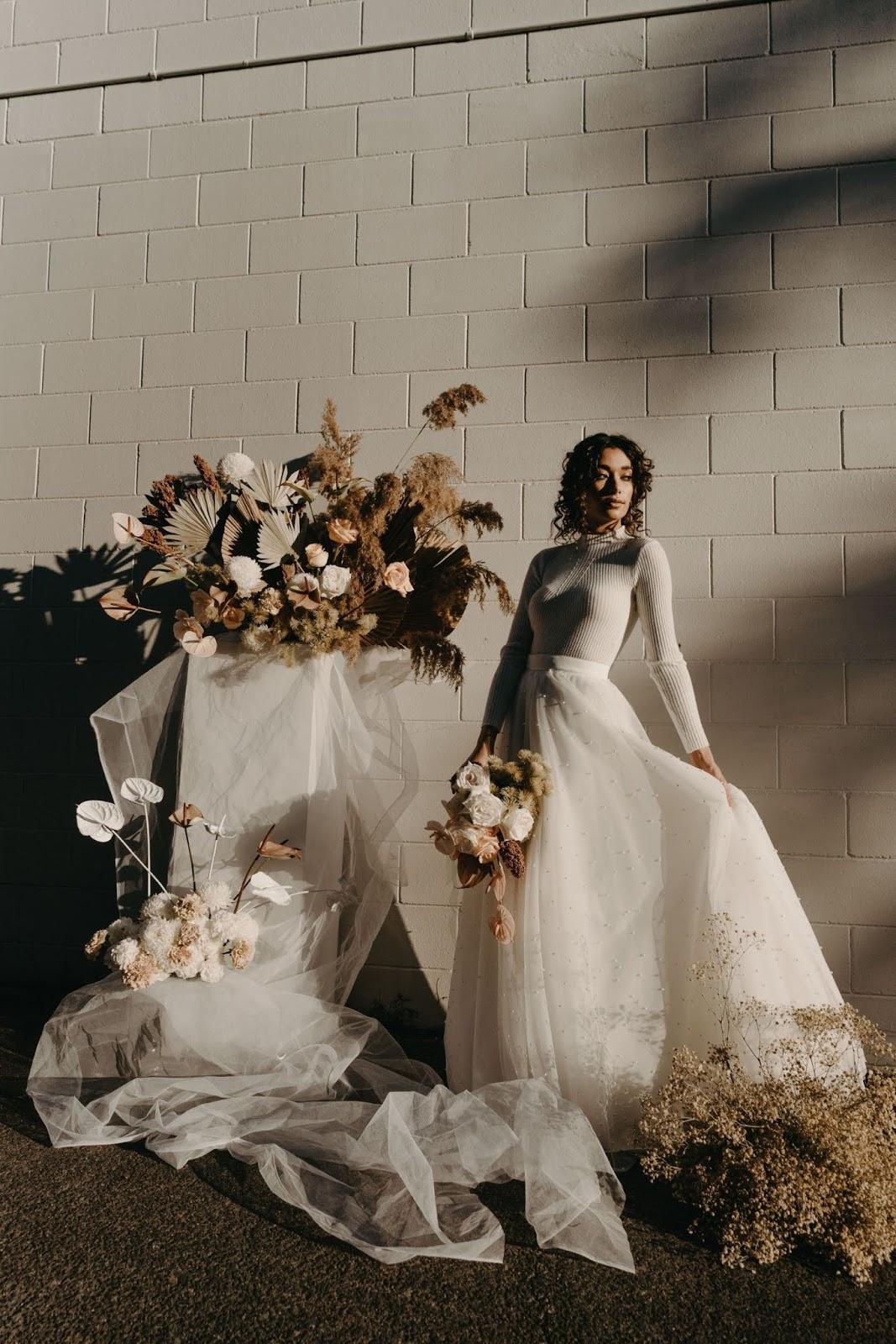 angela cannavo photography weddings sunshine coast wedding skirt bridal bouquet florals bride