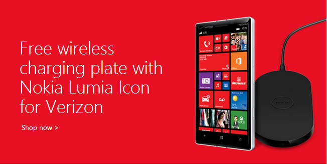 Microsoft offering free Nokia wireless charging plate with Lumia Icon purchase