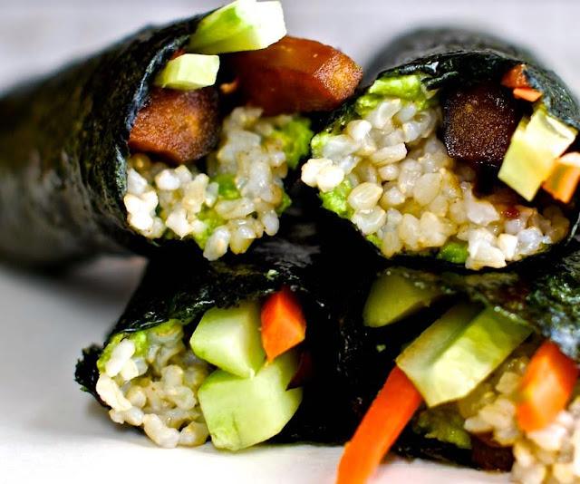 Reteta exotica usoara Sushi cu Alge NORI si ghimbir feliat