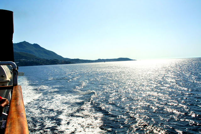 mare, acqua, costa, cielo, monti