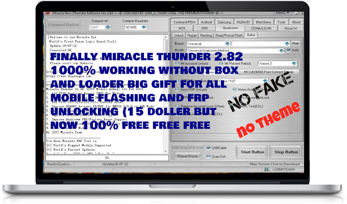 finally, Miracle Box thunder 2.82 Direct Crack Setup Free Download smartphone mobile flashing software tool [No Need Keygen, Xtm Key, Loader] 1000% Working new year gift for all