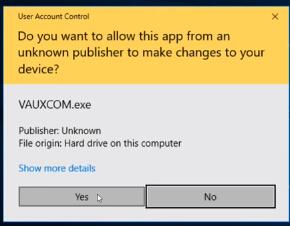OPCOM VAUX-COM 120309a software on WIN10 (1)