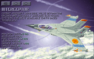 UFO X-Com Amiga interceptor UFOpaedia screenshot