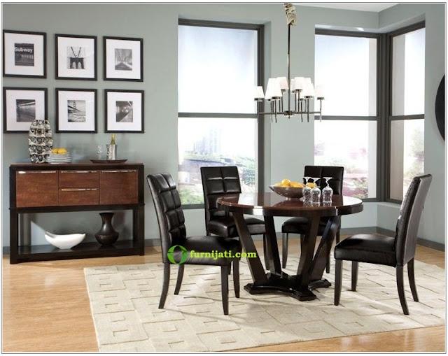 gambar meja dan kursi kayu jati