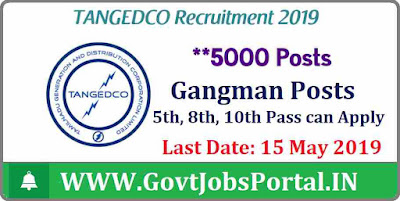TANGEDCO Recruitment 2019