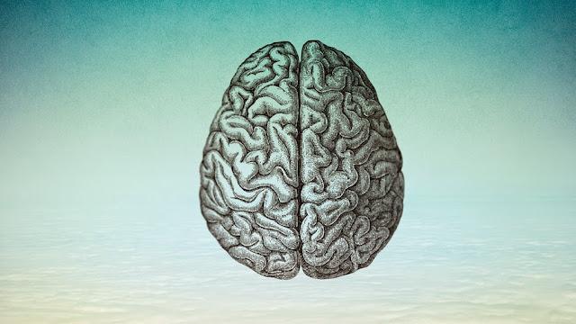 Cerebro azul vintage