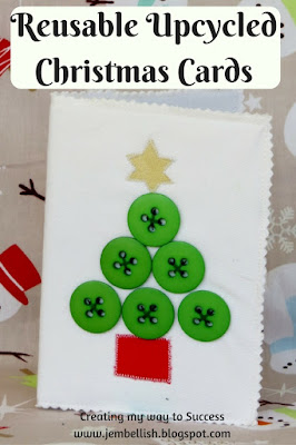 Reusable Upcycled Christmas Cards