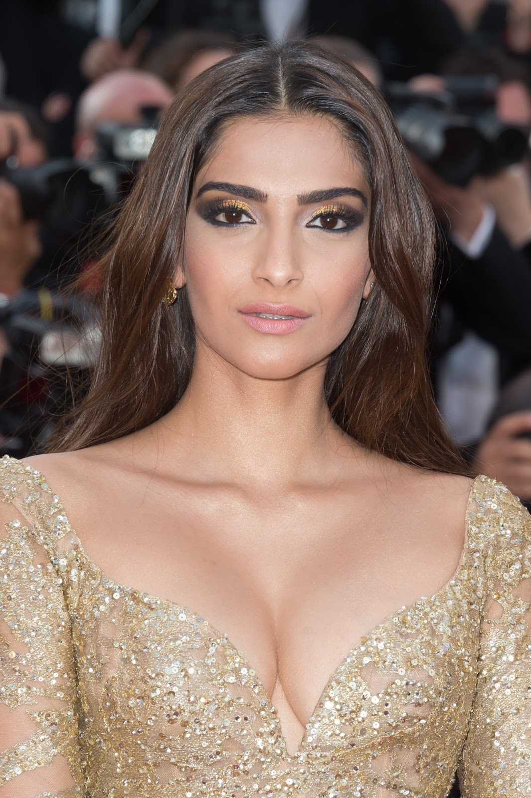 Sonam Kapoor Sexiest Cleavage Show In Elie Saab Couture At -9828