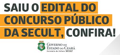 SECULT-CE Concurso Público 2018
