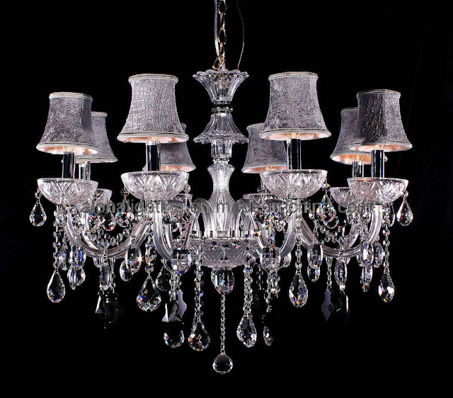 design modern crystal chandelier with shades
