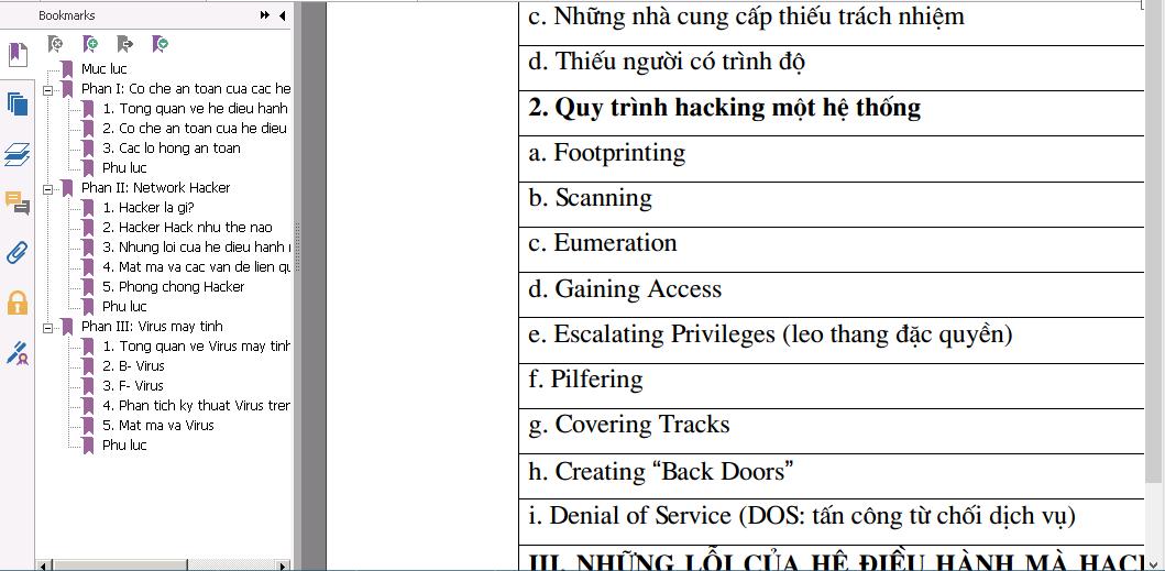 Ebook tiếng Việt Cơ chế an toàn các HĐH mạng Network Hacker Virus