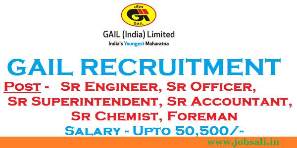 GAIL Careers, GAIL Recruitment 2017, Engineering Jobs
