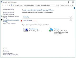 Cara mengatur Fitur smartscreen windows 10