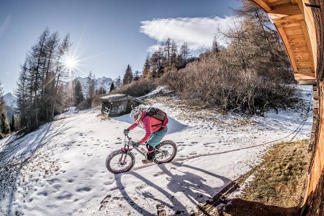 Fatbike Tour Winter Trunajoch Mountainbike