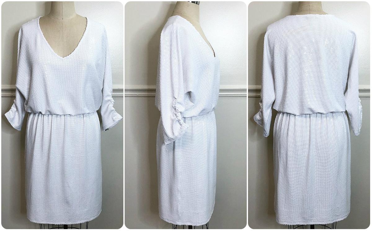 Vogue 8961 | A Little White Sequin Dress - Erica Bunker DIY Style!