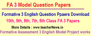 I to v (primary ) classes formative assessment 3(fa-3) question.