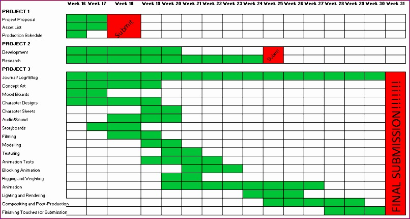 production schedule in excel