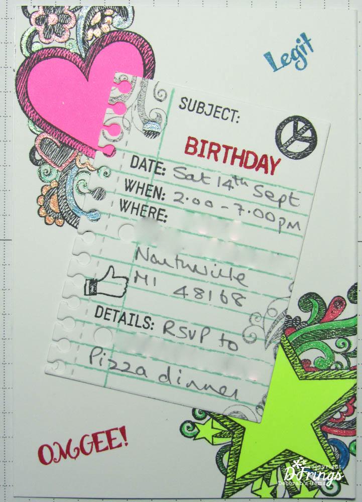 Deborahs Gems Birthday invitations – What to Put on a Birthday Invitation