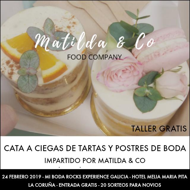 cata a ciegas tartas boda matilda & co mi boda rocks experience galicia 2019