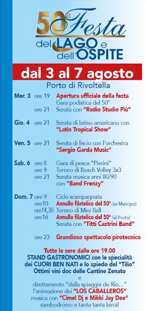 Festa del Lago e dell'Ospite  da 3 al 7 agosto Rivoltella sul Garda (BS) 2016