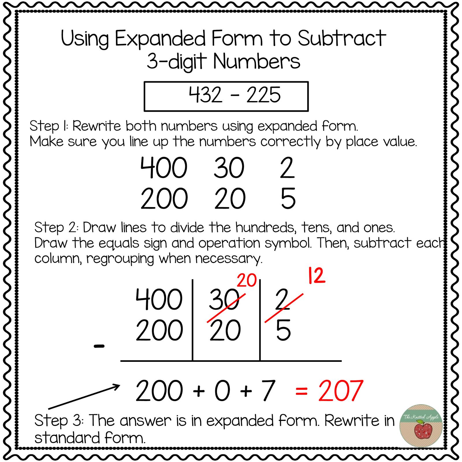 Form Addition Worksheets Davezan – Expanded Form Addition Worksheets