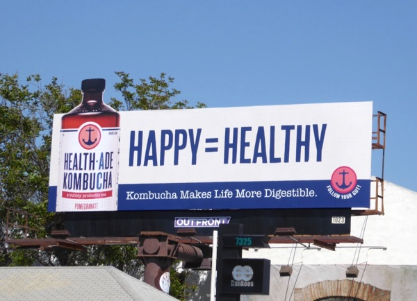 Happy Healthy Kombucha extension billboard