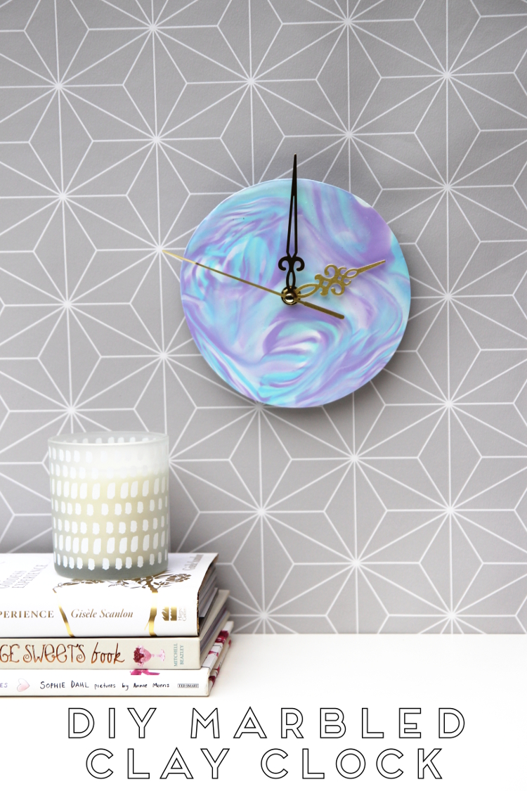 Diy Marbled Clay Clock Gathering Beauty