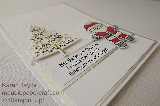 Cookie Cutter Christmas card with Softly Falling embossing folder