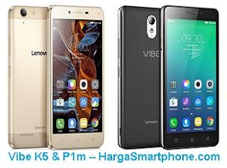 Harga dan Perbedaan Lenovo Vibe K5 dengan Vibe P1m