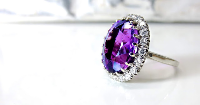 Purple And Silver Ring