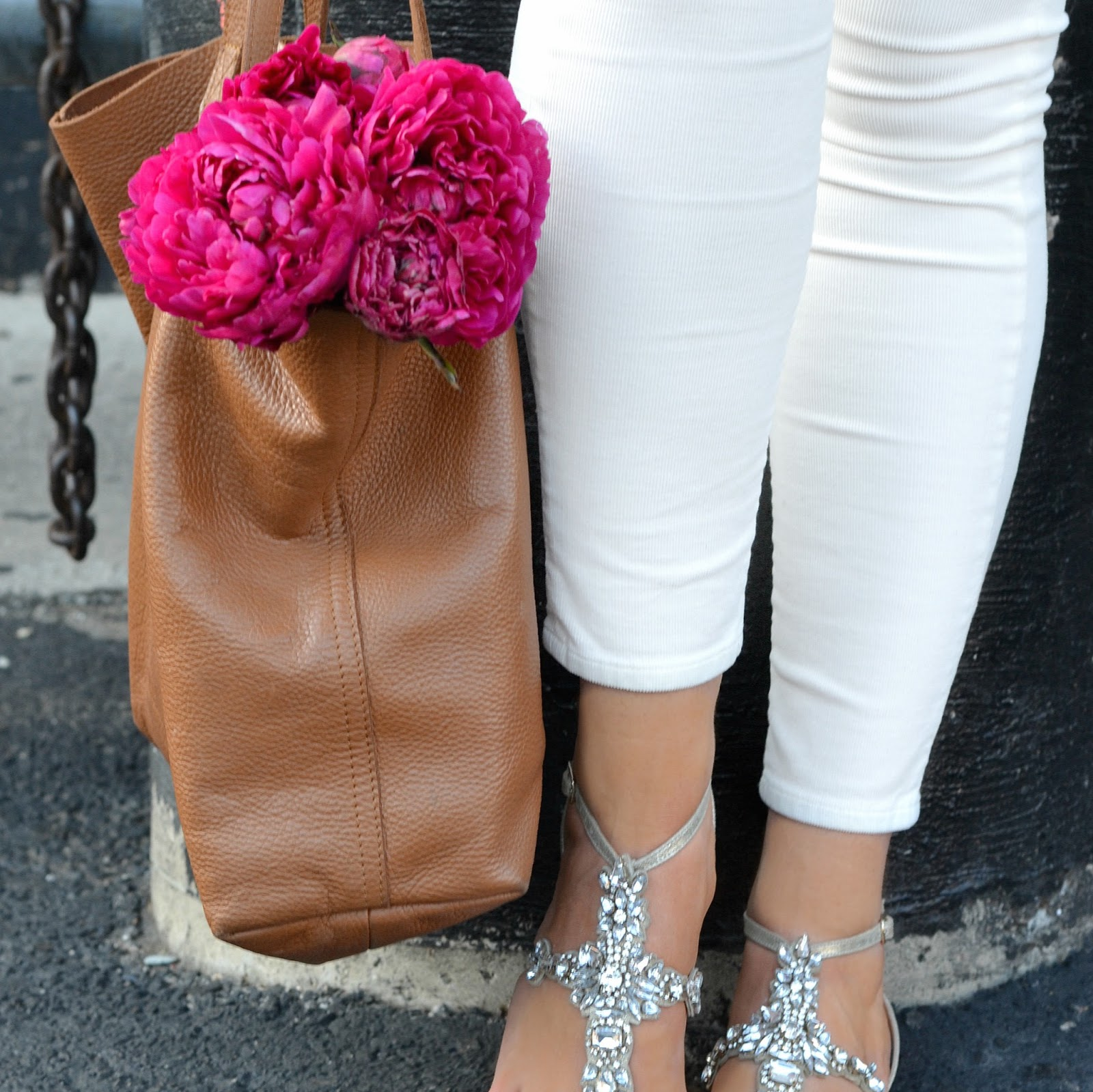 badgley mischka embellished sandals